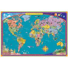 World Map Pinboard by Children U0027s World Map Kids Wall Map Uncommongoods