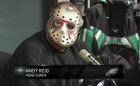 Andy Reid in Jason mask