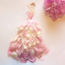 composition florale haute fashion illustration using flower petals inspiration pinterest