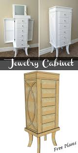 jewelry cabinet jewelry cabinet diy woodworking and woodworking