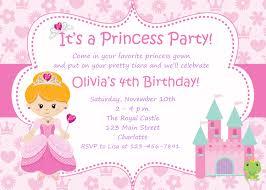 Birthday Invitation Cards Models Princess Party Invitations Iidaemilia Com