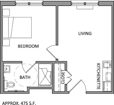 One Bedroom Apartment Designs by One Bedroom Apartment Plans And Designs One Bedroom Apartment Plan
