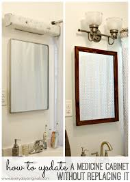 how to update a medicine cabinet without replacing it tired of