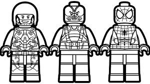 lego spiderman vs lego atom vs lego dark knight rises coloring