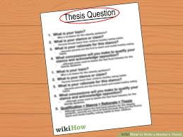 Master dissertations writing a masters dissertation structure
