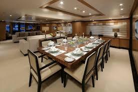 white tablecloth formal dining room sets dark brown varnish long
