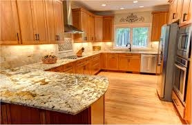 Maple Shaker Style Kitchen Cabinets Maple Kitchen Cabinets With Granite Countertops Tehranway Decoration