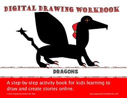 digital drawing workbook draw dragon paint editor