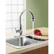 kohler pull out kitchen faucet kohler k597cp simplice polished farmhouse faucet kitchen kitchen sink faucet with sprayer kohler faucets