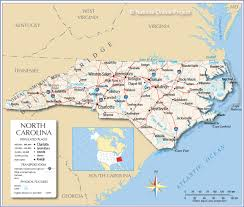 Time Zone Map Usa With Cities by Reference Map Of North Carolina Usa Nations Online Project
