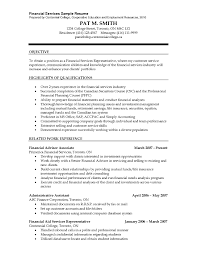 Financial Planner Resume Sample by Financial Advisor Responsibilities Resume Resume For Your Job