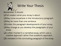 Developing a Thesis Statement PowerPoint Pinterest