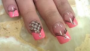 elegant diamond nails designs youtube
