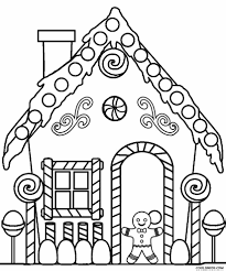 perfect gingerbread house coloring page 97 for coloring site with