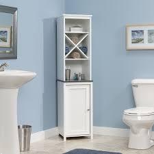 furniture endearing corner linen cabinet designs for bathroom