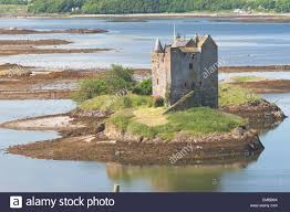 Small Castle by Small Medieval Castle On Small Island In Loch Linnhe Argyll In The
