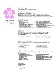 Graphic Designer Resume Sample by Graphic Design Resume Resume Tips Pinterest Resume Designs