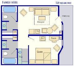 Disney Magic Floor Plan Mousesavers Com Family Suites At Disney U0027s All Star Music Resort