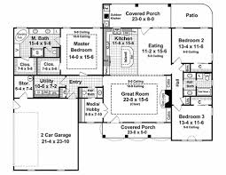 How Many Square Feet Is A 1 Car Garage Country Style House Plan 3 Beds 2 50 Baths 2000 Sq Ft Plan 21 197