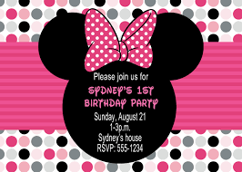 Create Birthday Invitation Card Online Stirring Minnie Mouse Birthday Party Invitations Which Is Viral