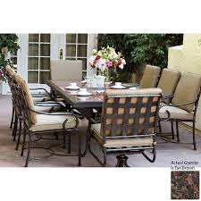 shop darlee malibu 9 piece antique bronze stone patio dining set