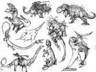 ชวนวาดรูประบายสีรูปการ์ตูนไดโนเสาร์น่ารักกัน - เว็บการ์ตูนหรอยกู