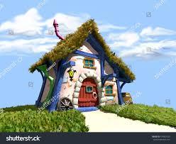 3d illustration tiny dwarf house stock illustration 470962100