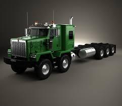 kenworth truck models kenworth c500 tractor truck 2001 3d model hum3d