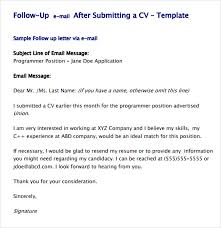 cover letter email body example