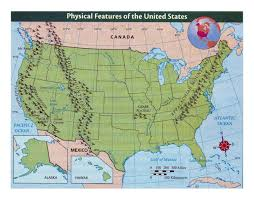The Map Of The United States Of America by Detailed Physical Features Map Of The United States Usa Maps