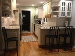 Long Kitchen Island Designs by Kitchen Design Long Narrow Room Minimalist Varnished Wood Island