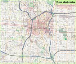 San Antonio Texas Map San Antonio Maps Texas U S Maps Of San Antonio