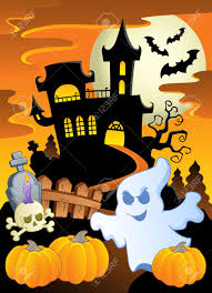 scene with halloween theme 5 illustration royalty free cliparts