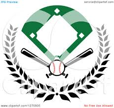 bats images clip art clipart of a baseball diamond field with a ball and crossed bats