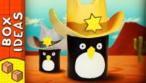 diy penguin cowboy hat craft ideas for kids box ideas youtube