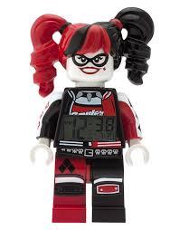 Jcpenney Clocks Lego Batman Movie Harley Quinn Kids Minifigure Alarm Clock Red