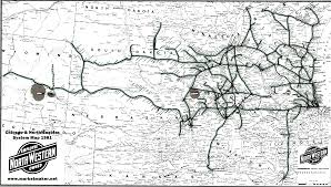 Chicago Line Map by Railroad System Maps