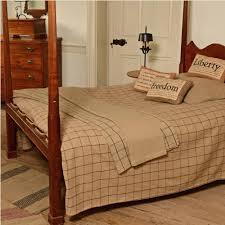 primitive check bedding piper classics