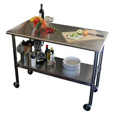 Stainless Steel Kitchen Furniture by Stainless Steel Top Kitchen Prep Table 2 Locking Casters Wheels