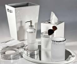 White Bathroom Accessories Set by Fluted Ceramic Bath Accessories Traditional Bathroom Accessories