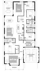 House Plans 5 Bedrooms Entrancing 40 Rectangular House Floor Plans Design Ideas Of 30x50