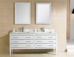adornus camile 60 inch modern double sink bathroom vanity white finish
