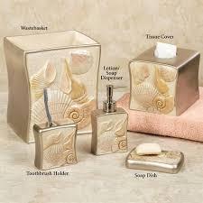 Coastal Bathroom Accessories by Sea Shell Coastal Bath Accessories Sea Shell Bathroom Accessories