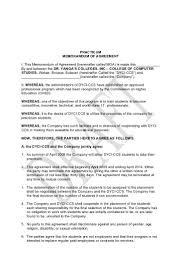 Moa Resume Sample by Memorandum Of Agreement