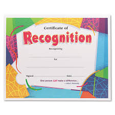 Parchment Paper Office Depot Certificate Of Recognition Awards By Trend Tept2965