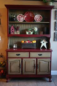 Kitchen Cabinet With Hutch Red China Cabinet Hutch Sold By Emptynestrestoration On Etsy