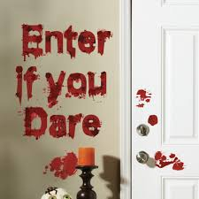 halloween wall art upc 727223014200 totally ghoul bloody enter if you dare wall art