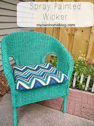 Painting Wicker Patio Furniture - spray painted 5 wicker chair painted wicker valspar and happy