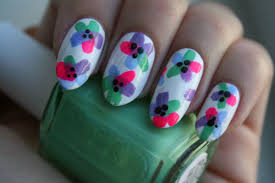 try this floral nail art tutorial for spring beautyeditor