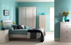 Bedroom  Beautiful Bedroom Design With Turquoise Wall Paint And - Turquoise paint for bedroom